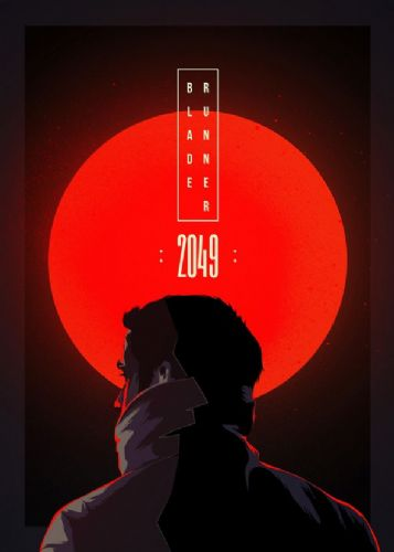 2010's Movie - BLADE RUNNER 2049 MINIMALIST RED canvas print - self adhesive poster - photo print